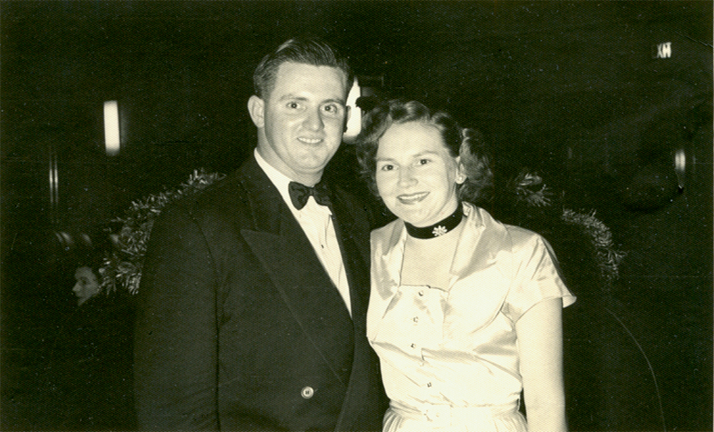 Dudley and Joan Doherty on a night out in Sydney (photograph supplied)