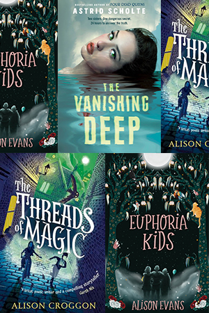Margaret Robson Kett reviews 'The Threads of Magic' by Alison Croggon, 'Euphoria Kids' by Alison Evans, and 'The Vanishing Deep' by Astrid Scholte