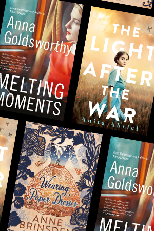 Susan Midalia reviews 'Melting Moments' by Anna Goldsworthy, 'The Light After the War' by Anita Abriel, and 'Wearing Paper Dresses' by Anne Brinsden