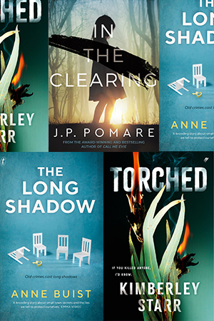 David Whish-Wilson reviews 'The Long Shadow' by Anne Buist, 'Torched' by Kimberley Starr, and 'In the Clearing' by J.P. Pomare
