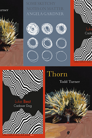 Anders Villani reviews 'Cadaver Dog' by Luke Best, 'Thorn' by Todd Turner, and 'Some Sketchy Notes on Matter' by Angela Gardner