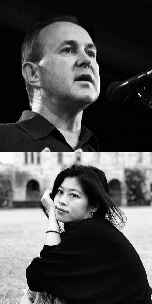 Andy Kissane and Belle Ling, joint winners of the 2019 Peter Porter Poetry Prize.