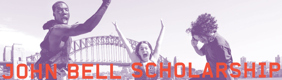 Promotional image for the Bell Shakespeare John Bell Scholarship (photo by Bell Shakespeare)