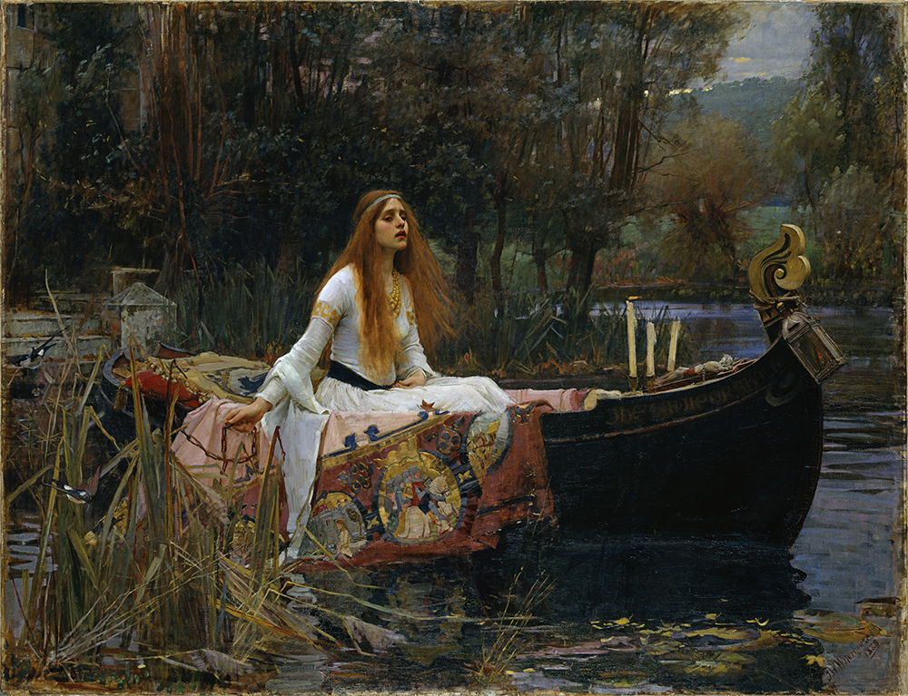 John William Waterhouse The Lady of Shalott 1888 oil on canvas 153 x 200 cm Presented by Sir Henry Tate 1894 Tate, © Tate, London 2018
