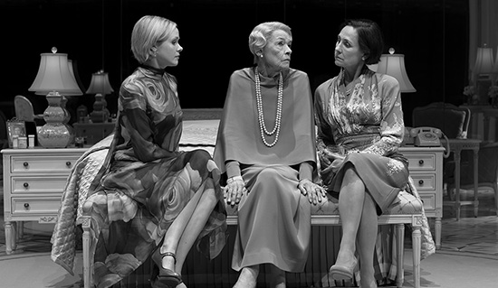 Alison Pill Glenda Jackson and Laurie Metcalf in Three Tall Women photograph by Brigitte Lacombe