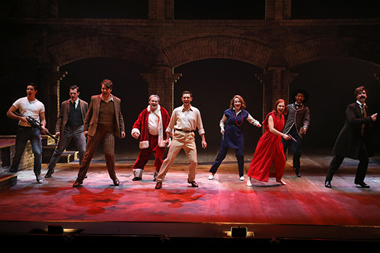 The cast of Black Swan State Theatre Company's Assassins (photograph by Philip Gostelow)