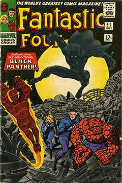 Black Panthers first appearance in the Fantastic Four Comic