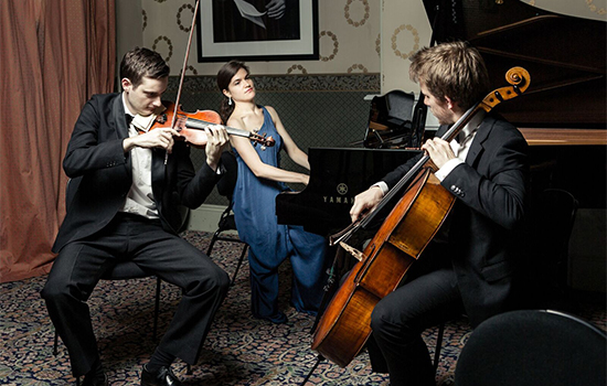 The Melbourne-based Clarendon trio with their instruments