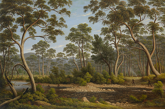 John Glover The River Nile, Van Diemen's Land, from Mr Glover's farm 1837 oil on canvas 76.4 x 114.6 cm National Gallery of Victoria, Melbourne Felton Bequest, 1956