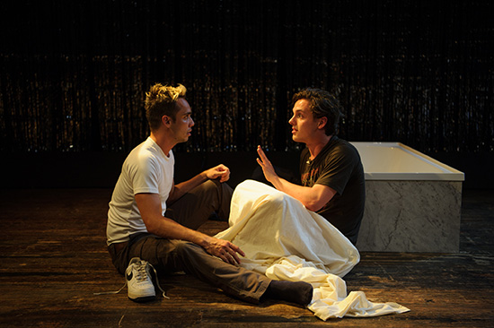 Guy Simon and Will King in Strangers in Between photograph by Sarah Walker