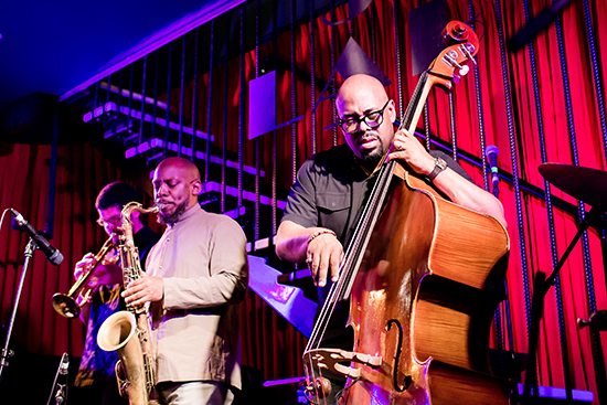 Christian McBride (right) and the New Jawn quartet (photograph by Kevin Peterson)