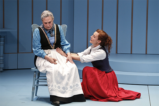 Marta Dusseldorp as Nora and Deidre Rubenstein as Anne Marie in A Doll's House, Part 2 by Melbourne Theatre Company (photo by Jeff Busby)1295