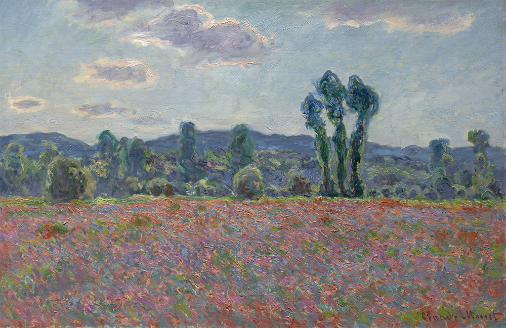 Claude Monet, France, Poppy field, 1890/91, oil on canvas, 61 x 92 cm, The State Hermitage Museum, St Petersburg, Inv GE 9004 (photo: © The State Hermitage Museum 2018, Pavel Demidov and Konstantin Sinyavsky)