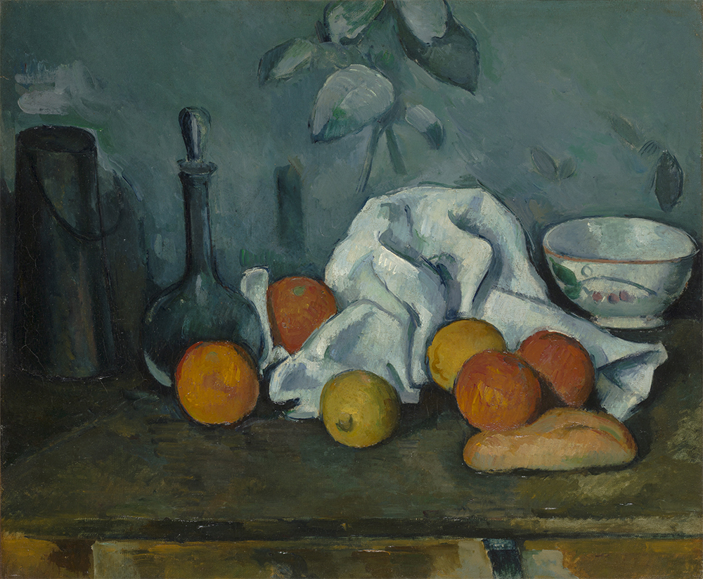Paul Cézanne Fruit 1879/80, oil on canvas, 46.2 x 55.3 cm, The State Hermitage Museum, St Petersburg Inv GE 9026 Photo: © The State Hermitage Museum 2018, Pavel Demidov and Konstantin Sinyavsky