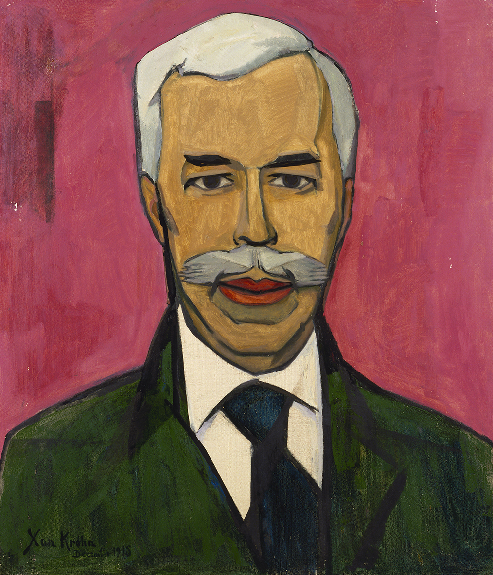 Christian Cornelius Krohn (Xan Krohn), Portrait of Sergey Shchuki'n, 1915, oil on canvas, 97.5 x 84 cm The State Hermitage Museum, St Petersburg, Inv GE 9090 © Estate of Christian Krohn/BONO.Copyright Agency, 2018 (photo: © The State Hermitage Museum 2018, Vladimir Terebenin, Leonard Kheifets and Yuri Mololkovets)