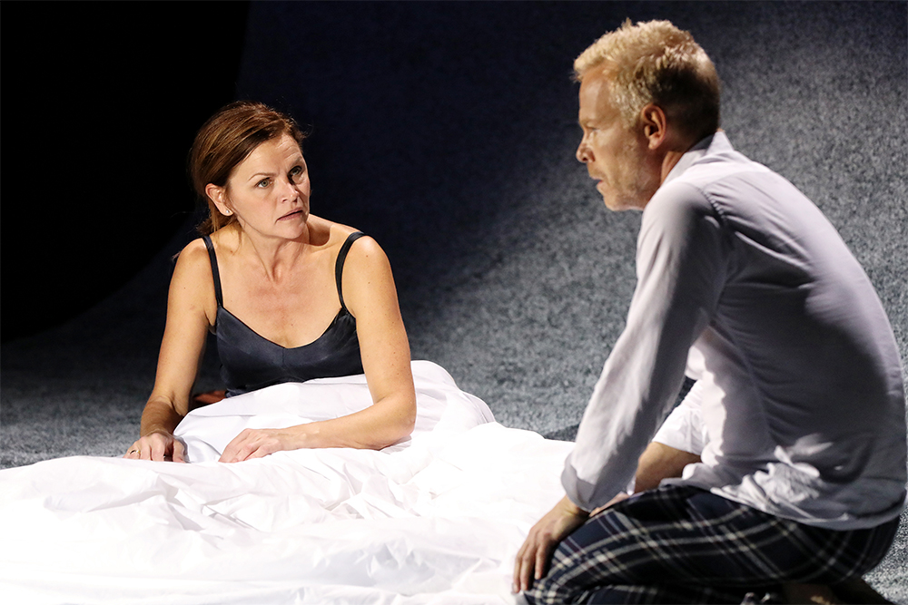 Stine Stengade as Marianne and Morten Kirkskov as Johan in Scenes from a Marriage (photo by Prudence Upton)