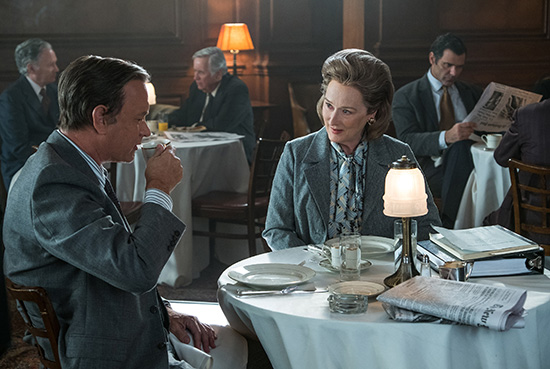 Tom Hanks as Ben Bradlee and Meryl Streep as Katherine Graham in The Post Entertainment One