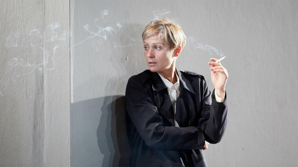 Sian Brooke in I'm Not Running (photo by Mark Douet)