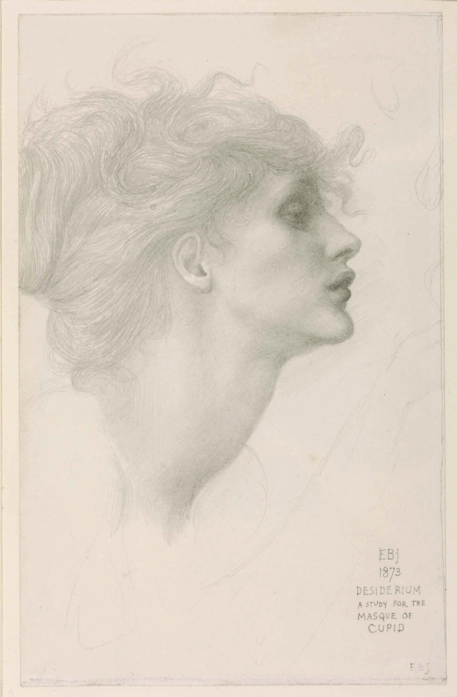 Desiderium, 1873, graphite on paper, 21 x 13 cm (Tate)