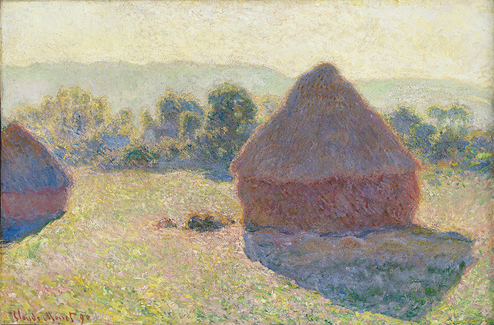 Claude Monet, Haystacks, midday [Meules, milieu du jour], 1890, oil on canvas, 65.6 x 100.6 cm (Purchased 1979 National Gallery of Australia, Canberra)
