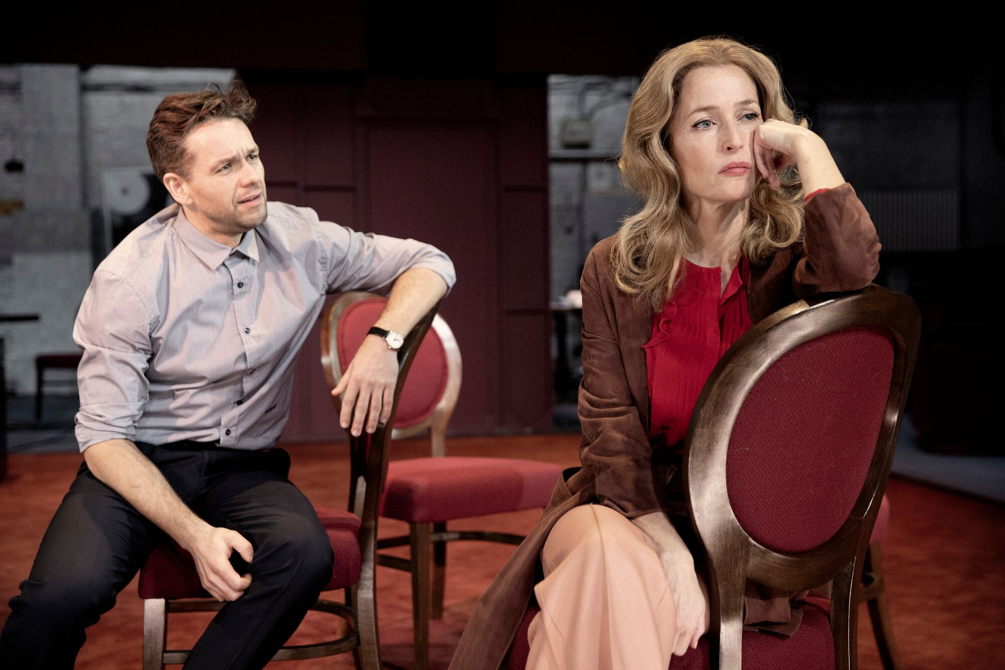 Julian Ovenden and Gillian Anderson in All About Eve (photograph by Jan Versweyveld)