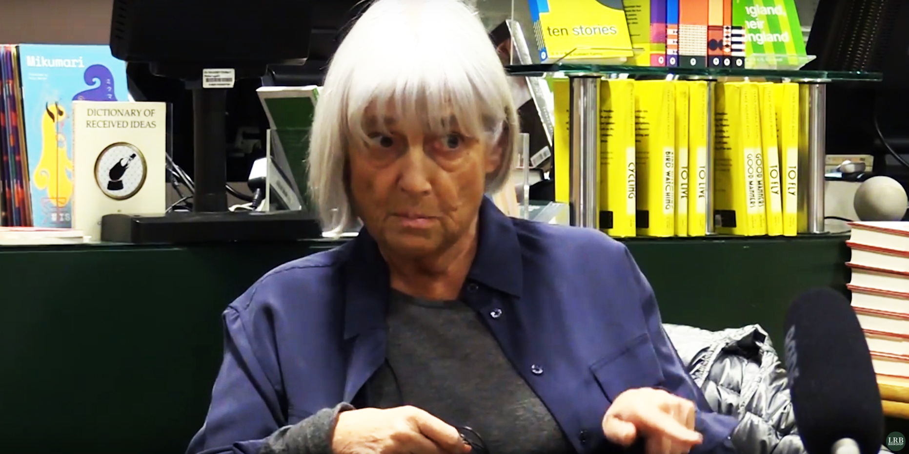 Mary-Kay Wilmers (photograph a screengrab from London Review Bookshop interview)