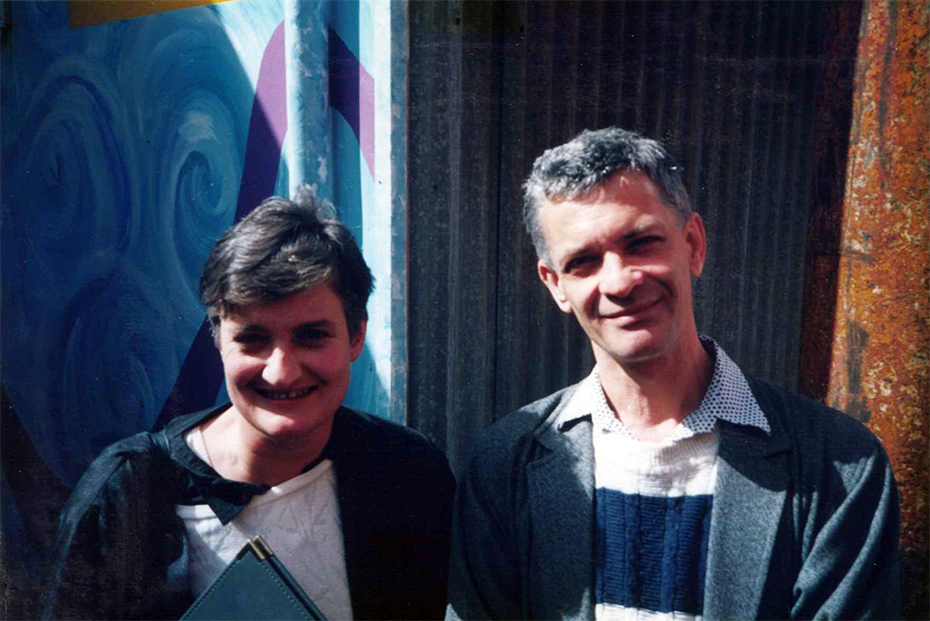 Helen Daniel (Editor of ABR 1995–2000) with Robert Dessaix, a contributor since 1981