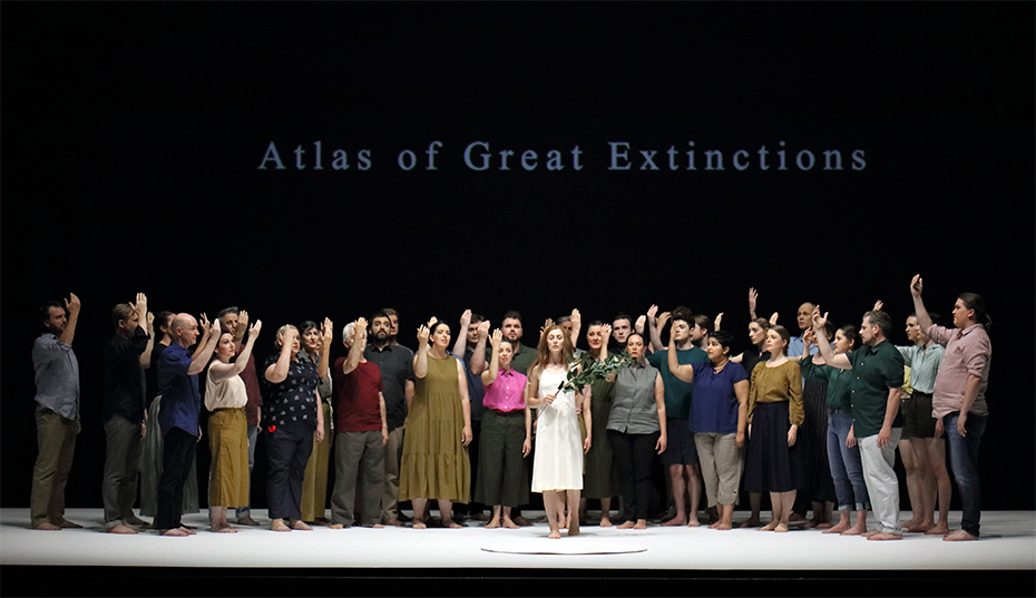 The cast of Requiem (photograph by Tony Lewis)