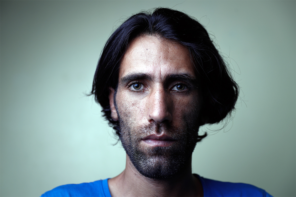 Refugee Behrouz Boochani from Iran, on Manus Island, Papua New Guinea, on Tuesday 11 April, 2017. (Photograph by Alex Ellinghausen. © Fairfax Media, MEAA)