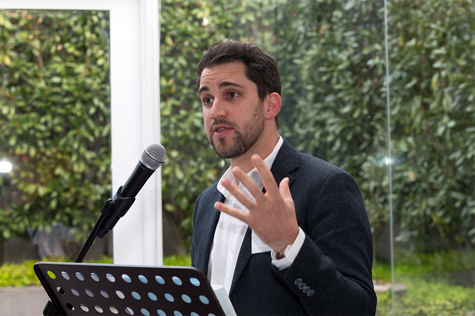 Billy Griffiths speaks at an ABR function, 2019