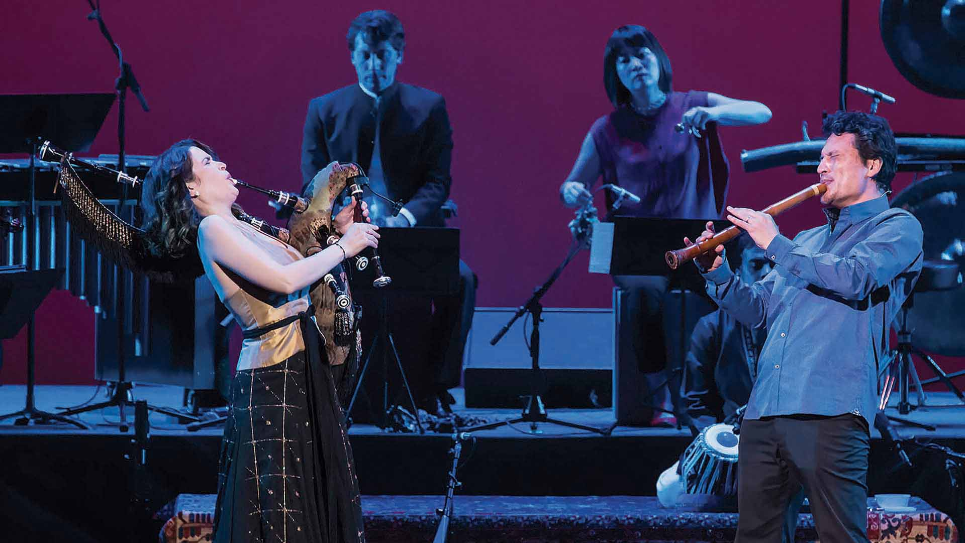 Cristina Pato and Wu Tong from the Silkroad Ensemble (photograph via the Perth Festival)
