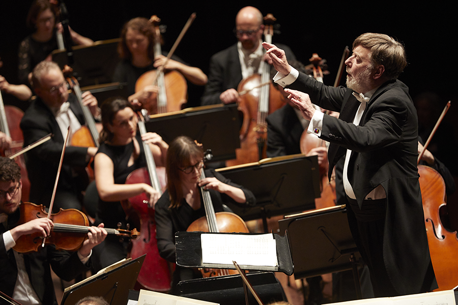 Andrew Davis conducts The Rite of Spring as part of the MSO's Stravinsky Double Bill (photograph by Laura Manariti)