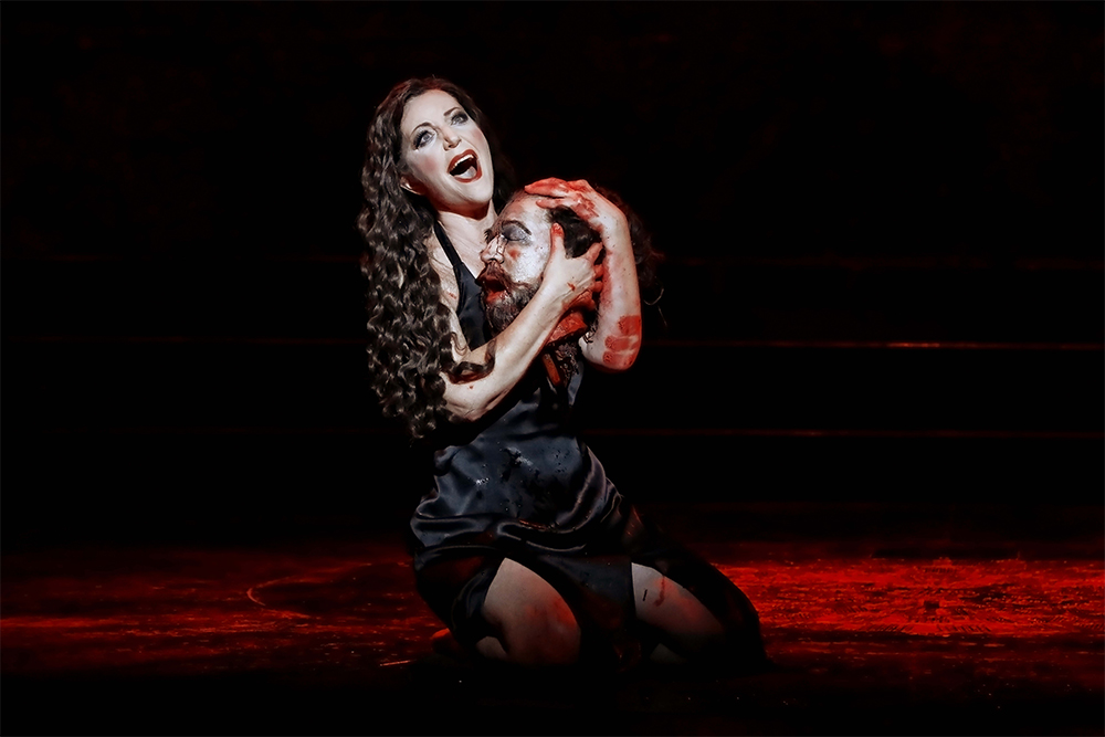 Lise Lindstrom as Salome in Opera Australia's 2019 production of Salome at the Sydney Opera House (photograph by Prudence Upton)