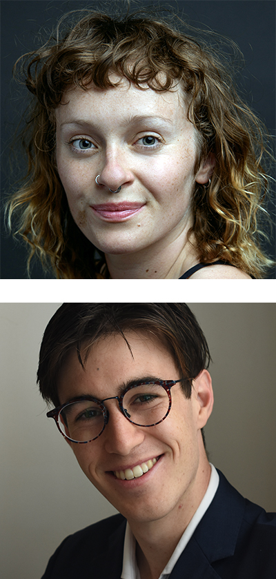 Sarah Walker (top) and Alex Tighe (bottom)