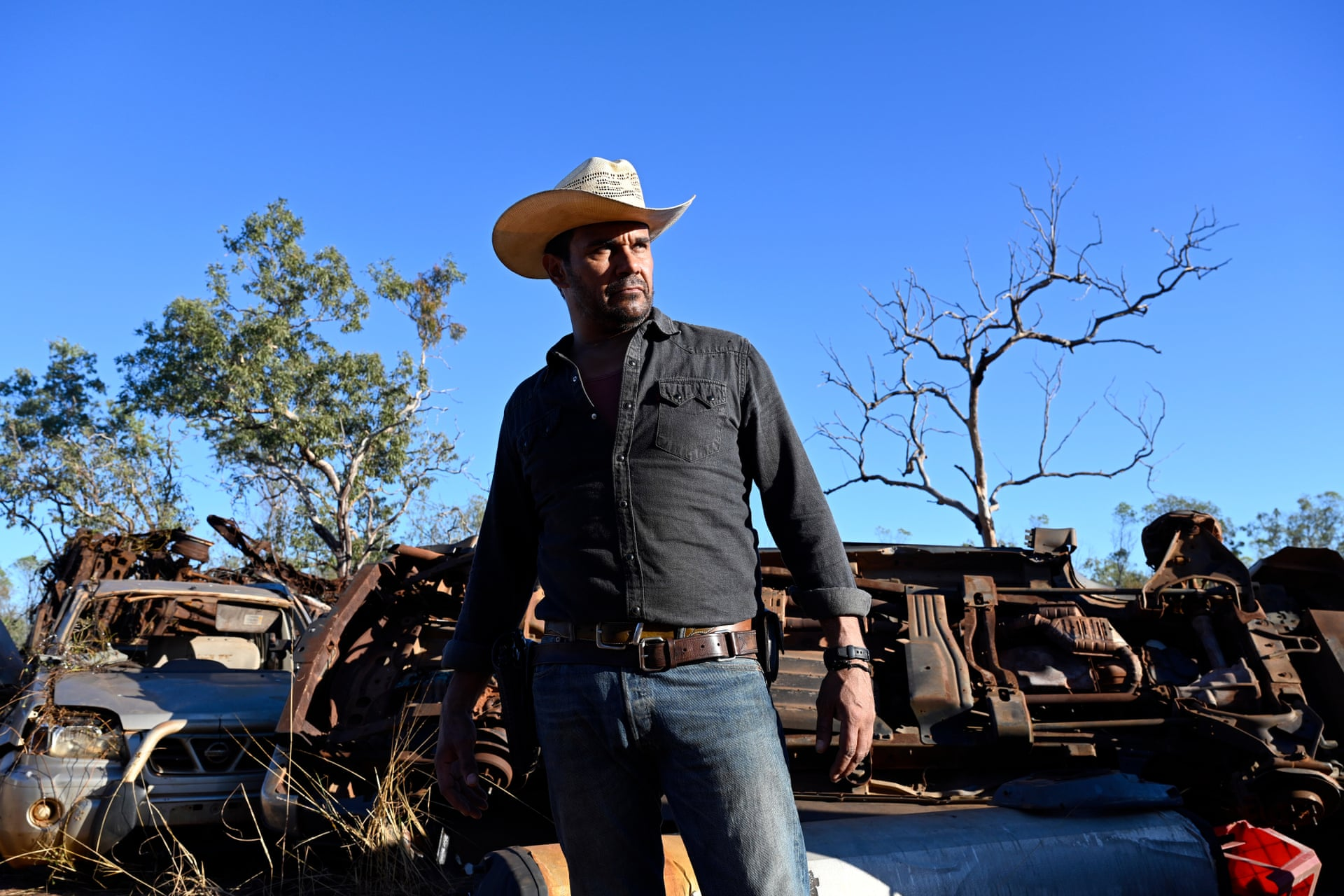 Aaron Pedersen as Jay Swan in Mystery Road (photograph by David Dare Parker/ABC TV)