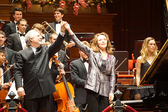Conductor Manfred Honeck and Hélène Grimaud photograph by Oliver Brighton 550