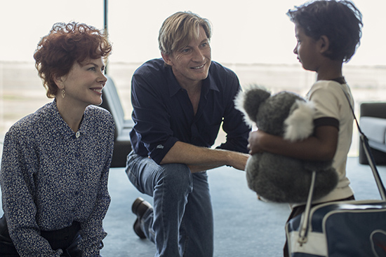 Nicole Kidman David Wenham and Sunny Pawar in Lion Transmission Films