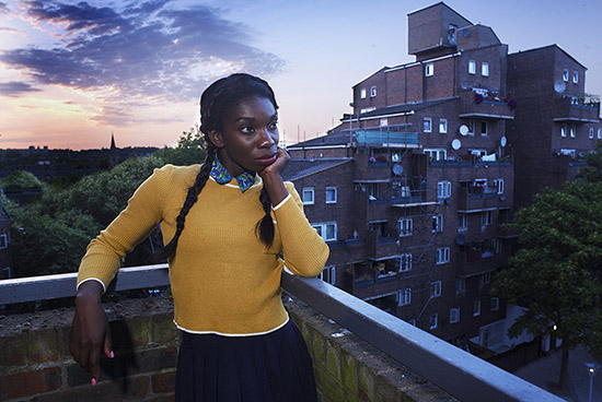 Michaela Coel as Tracey Gordon in Chewing Gum photograph by Dave King Netflix
