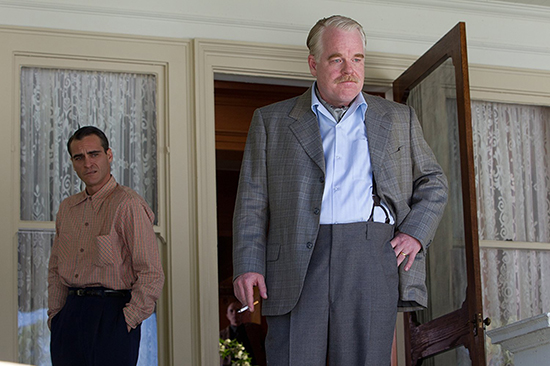 Philip Seymour Hoffman and Joaquin Phoenix in The Master 2012 The Weinstein Company ABR Online