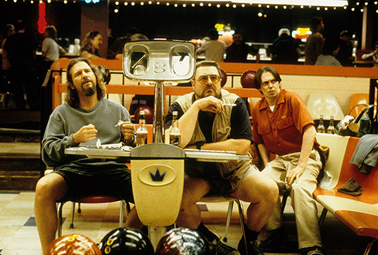 Steve Buscemi Jeff Bridges and John Goodman in The Big Lebowski 1998 Gramercy Pictures