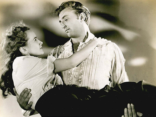 Teresa Wright and Robert Mitchum in Pursued 1947 United States Pictures Warner Bros