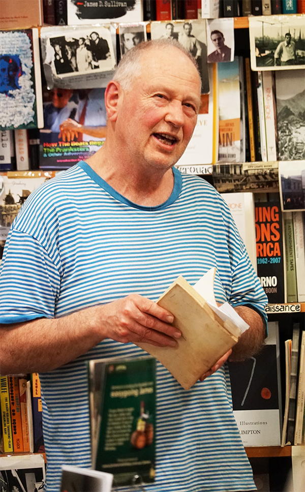 Kris Kemensley at an ABR function at the Collected Works Bookshop, October 2017