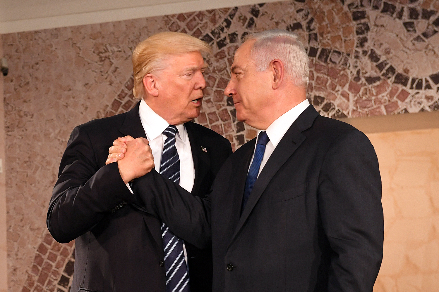 Benjamin Netanyahu with US President Trump at the Israel Museum, Jerusalem on May 23 2017 (photo by  US Embassy Tel Aviv)