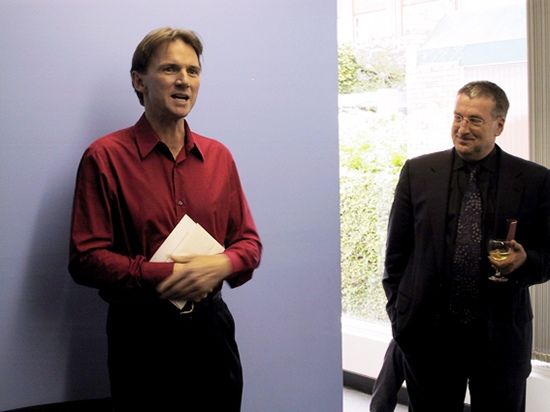 Peter Rose and Terry Cutler at the launch of the 2001 Summer issue