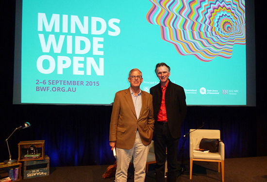 Jonathan Galassi and Peter Rose at the 2015 Brisbane Writers' Festival