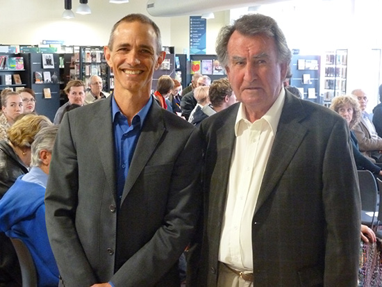Andy Griffiths and Gerald Murnane at an event at Boyd, 2013