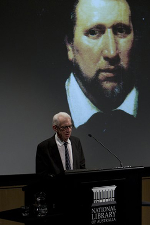 Ian Donaldson gives the ABR Fiftieth Birthday Lecture at the National Library of Australia in 2011