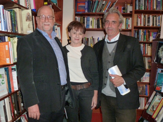 Ian Dickson, Carrie Tiffany, and Gregory Day at the 2011 Jolley Prize ceremony