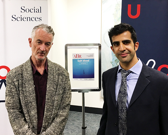 Michael Adams and Darius Sepehri at Calibre Essay Prize event 2017