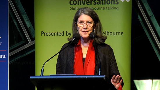 Morag Fraser speaks at an ABR event, 2014
